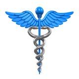 caduceusclippingen innehåller medicinskt banasymbol för digital illustration Arkivbild