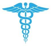 caduceusclippingen innehåller medicinskt banasymbol för digital illustration Arkivfoto