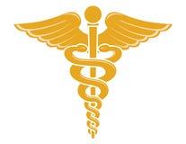 caduceusläkarundersökningsymbol Royaltyfri Bild