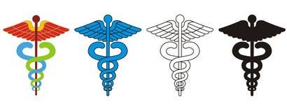 caduceusläkarundersökningsymbol Arkivbilder