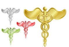 Caduceussatz Stockfotos