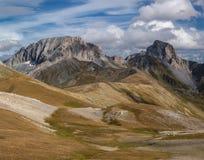 Caduta altamente in montagne Supporto Sedaya e roccia Zagedan Fotografia Stock