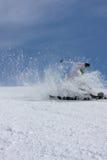 Caduta degli sciatori della neve Fotografie Stock
