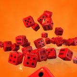 Caduta dei cubi dei dadi illustrazione di stock
