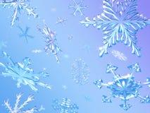 Caduta dei fiocchi di neve Immagini Stock Libere da Diritti