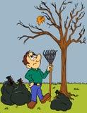 Caduta dei fogli di autunno Fotografia Stock