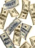 Caduta dei soldi Fotografia Stock
