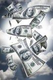 Caduta dei soldi immagini stock