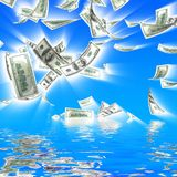 caduta dei soldi 3d Fotografie Stock