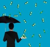 Caduta dei soldi Immagine Stock