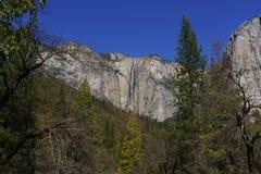 Caduta del nastro in parco nazionale di Yosemite in primavera Immagine Stock