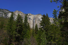 Caduta del nastro in parco nazionale di Yosemite in primavera Fotografia Stock Libera da Diritti