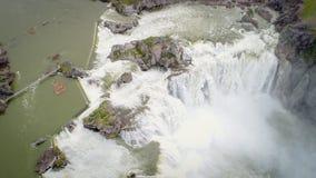 Caduta dell'acqua della shoshone in primavera con alta marea Fotografie Stock Libere da Diritti