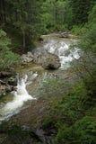 Caduta dell'acqua di Fallbach, Carinzia, Austria Fotografie Stock