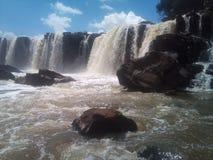 Caduta dell'acqua nel Kenya Fotografie Stock