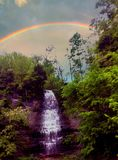 Caduta dell'arcobaleno Fotografie Stock Libere da Diritti