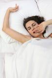 Caduta della donna addormentata Fotografia Stock Libera da Diritti