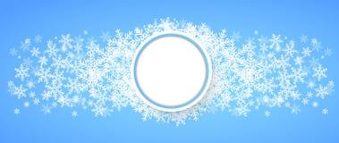 Caduta della neve Fondo di tema di inverno di festa Immagini Stock Libere da Diritti