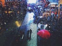 Caduta della pioggia fotografia stock