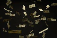 Caduta delle fatture di dollaro americano Fotografia Stock