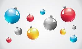 Caduta delle palle di Natale Fotografie Stock
