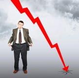 Caduta delle vendite e del fallimento Immagini Stock
