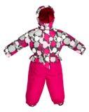 Caduta dello snowsuit dei bambini Fotografie Stock Libere da Diritti