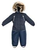 Caduta dello snowsuit dei bambini Immagini Stock Libere da Diritti