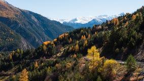 Caduta di Alpes Fotografia Stock