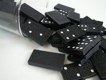 Caduta di domino Fotografie Stock