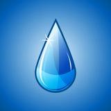 Caduta di goccia dell'acqua blu Fotografia Stock Libera da Diritti
