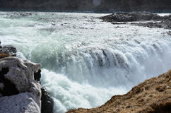 Caduta di Gullfoss sull'Islanda Immagine Stock Libera da Diritti