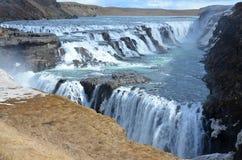 Caduta di Gullfoss sull'Islanda Fotografie Stock Libere da Diritti
