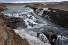 Caduta di Gullfoss sull'Islanda Immagini Stock Libere da Diritti