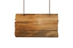 Caduta di legno del segno Fotografie Stock