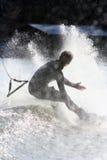Caduta di Wakeboarding Fotografia Stock Libera da Diritti