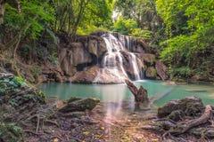 Caduta Huay Mae Khamin Kanchanaburi Thailand dell'acqua Fotografie Stock Libere da Diritti