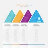 Caduta Infographic del triangolo Fotografie Stock