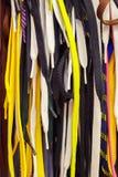 Caduta luminosa colorata dei laccetti nel deposito fondo delle corde Fotografia Stock Libera da Diritti