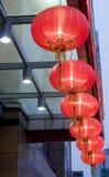 Caduta rossa della lanterna Fotografia Stock