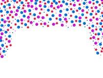 Caduta rossa e blu di celebrazione di U.S.A. dei coriandoli Concetto nei colori nazionali per la festa dell'indipendenza, l'event royalty illustrazione gratis