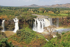 Cadute blu di Nilo, Bahar Dar, Etiopia Immagine Stock Libera da Diritti