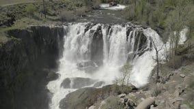 Cadute & Celestial Falls del fiume White 04 28 19 stock footage