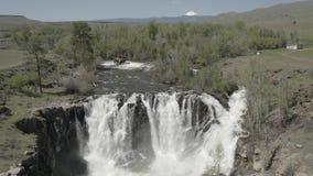 Cadute & Celestial Falls del fiume White 04 28 19 video d archivio