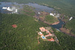 Cadute dell'acqua di Iguazu Immagine Stock