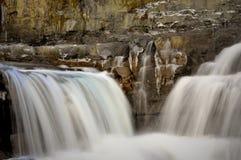 Cadute dell'acqua di orario invernale Fotografia Stock