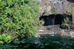 Cadute dell'arcobaleno, grande Isalnd, Hawai Fotografia Stock Libera da Diritti