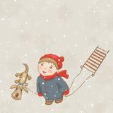 Cadute della neve Fotografie Stock