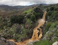 Cadute delle Alture del Golan (Israele) Immagini Stock Libere da Diritti