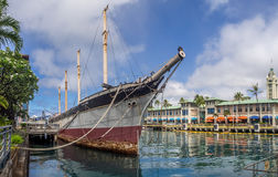 Cadute di Clyde il 6 agosto 2016 nel porto di Honolulu Fotografia Stock Libera da Diritti
